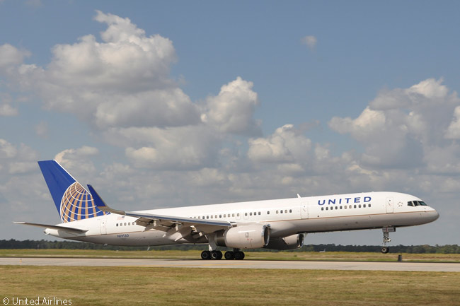 In transferring its Premium Service U.S. transcontinental services from New York JFK to Newark Liberty International Airport, United Airlines decided to re-deploy a number of Boeing 757s from operating transatlantic routes to operating on its p.s. flights. This is one of those aircraft