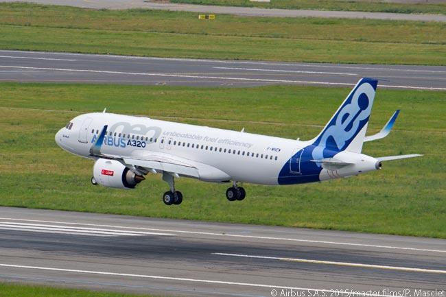 The A320neo completed its first flight with CFM International LEAP-1A engines on May 2015 19, with a touchdown at Toulouse Blagnac Airport, from which the flight had also taken off