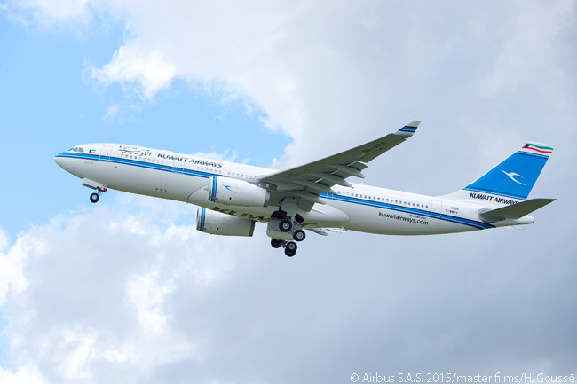 Kuwait Airways took delivery of the first of five new leased Airbus A330-200s on June 25, 2015, becoming a new operator of the A330