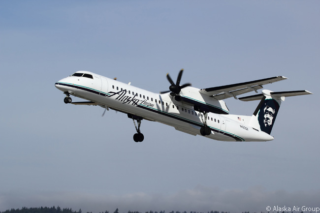 Horizon Air operates a fleet of more than 50 Bombardier Q400 76-seat turboprop regional airliners, making it one of the largest operators of the type in the world