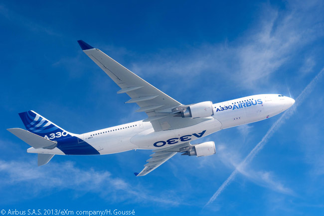On July 1, 2015, China Aviation Supplies Holding Company signed with Airbus a general terms agreement for 45 A330-family aircraft and a memorandum of understanding covering options for 30 more