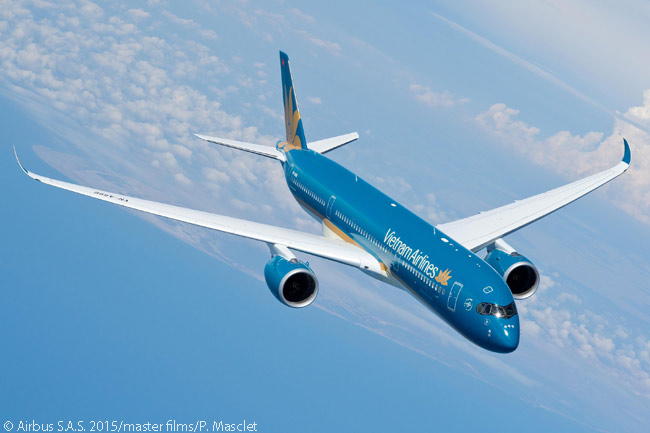 After taking delivery on June 30, 2015 of the first of 14 Airbus A350-900s it had ordered or agreed to lease, Vietnam Airlines was due the same week to become the second airline to put the type into commercial service