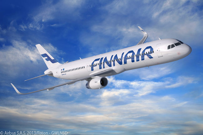 Finnair was the first airline to operate Airbus A321 aircraft with fuel-saving Sharklet wingtip devices