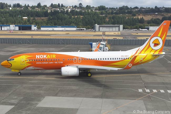 Bangkok-based low-cost carrier Nok Air took delivery on August 21, 2105 of the first Boeing 737-800 it had ordered directly from Boeing. The aircraft was part of an order for seven 737-800s placed by Nok Air, which also ordered eight Boeing 737 MAX 8 jets