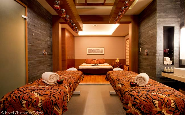 This is one of the eight treatment rooms in the Yu spa at the Hotel Chinzanso Tokyo