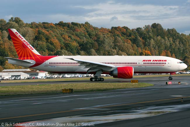 Air India originally ordered eight Boeing 777-200LRs but sold five to Etihad Airways and now only operates three