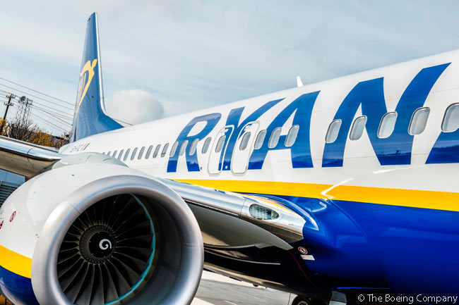 Ryanair is the world's largest operator of and largest customer for the Boeing 737-800, having ordered more than 530 of them