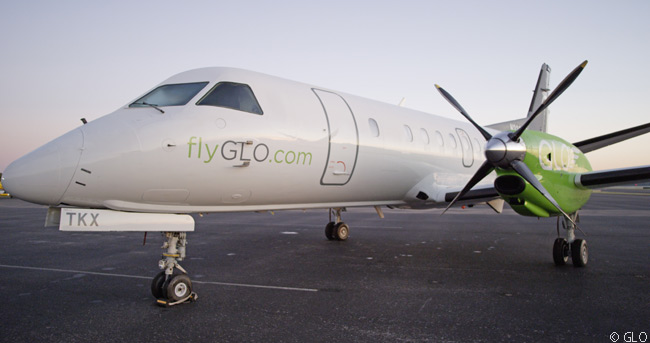 Public charter service start-up GLO launched commercial flights between New Orleans and Little Rock on November 15, 2015 with this Saab 340B
