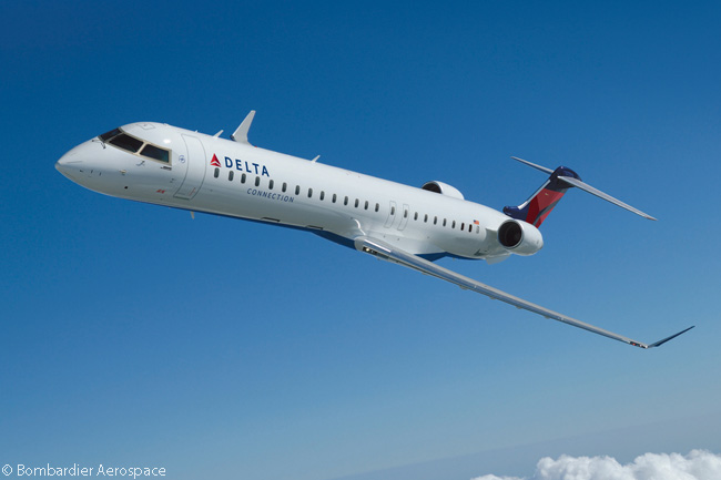 In total, SkyWest Airlines' two regional airline subsidiaries SkyWest Airlines and ExpressJet operate 64 Bombardier CRJ900s for the Delta Connection network