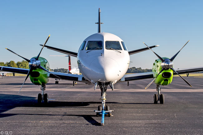 GLO, a public charter service which started operations in November 2015 with a 30-seat Saab 340B chartered from Corporate Flight Management, Inc., aimed to serve three cities in the southern U.S. from New Orleans