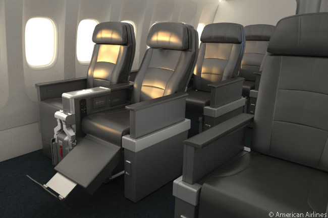 This is what American Airlines' new international long-haul Premium Economy seats look like