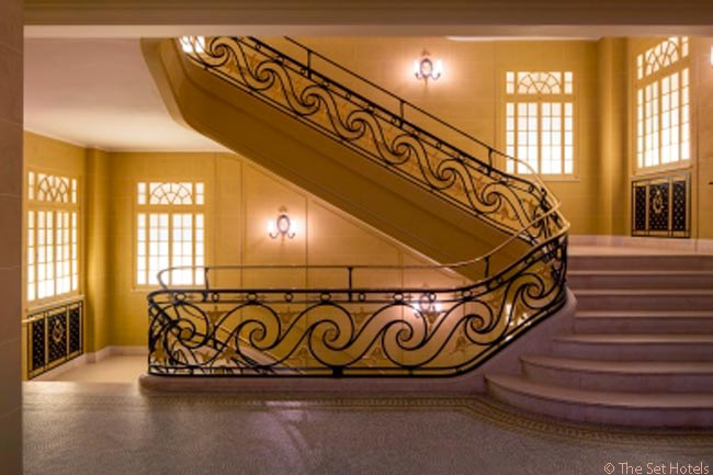 London's Hotel Café Royal has a stunning main staircase