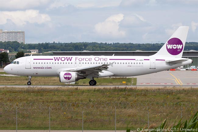 Ultra-low-cost carrier Wow Air operates this Lithuania-registered A320 and two others on its routes between Iceland and Europe, as well as four A321s on transatlantic routes from Iceland. Wow Air also agreed to lease three new A330-300 widebodies to operate services from Iceland to Los Angeles and San Francisco from summer 2016