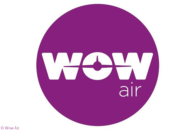 This is the logo of Wow Air, an ultra-low-cost carrier based in Iceland which operates services to destinations in Europe and North America
