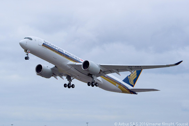 On February 2, 2016, Singapore Airlines' first Airbus A350-900 performed its maiden flight. By 2016, SIA had ordered 67 A350-900s, seven of which were of a 'ULR' ultra-long range version