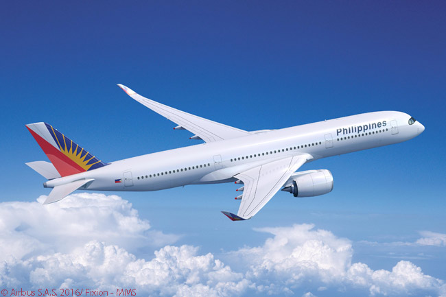 Philippine Airlines plans to operate its Airbus A350-900s on non-stop flights from Manila to the U.S. West Coast and New York, as well as on services to new destinations in Europe