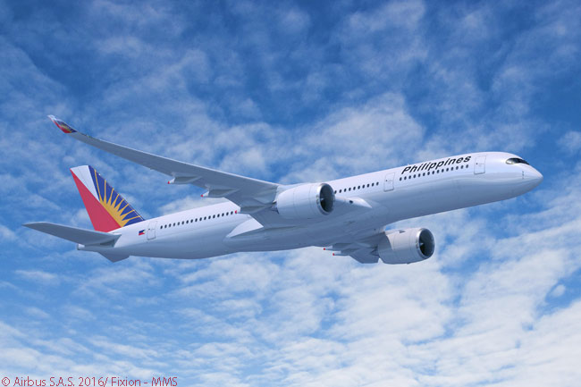 On February 17, 2017, Philippine Airlines signed a memorandum of understanding at the Singapore Airshow to order six Airbus A350-900s and option six more