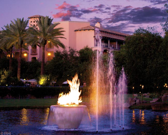 This is the Lagoon Lawn at the Fairmont Scottsdale Princess