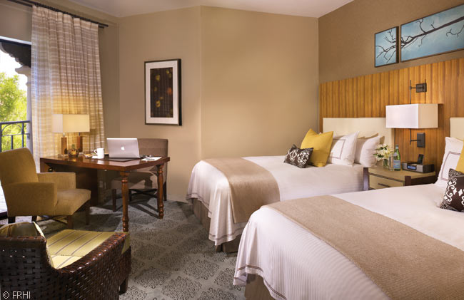 This is a Double-Double Fairmont Room at the Fairmont Scottsdale Princess Hotel