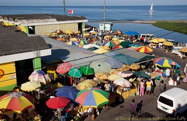 The Roseau Market, Dominica. Photo courtesy of Discover Dominica Authority