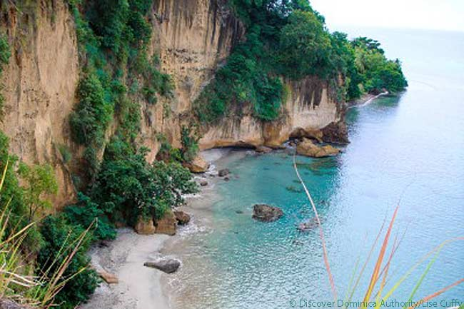 Secret Beach, Dominica. Photo courtesy of Discover Dominica Authority