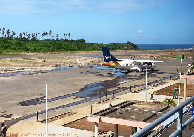 The terminal building at Douglas-Charles Airport, Dominica's main airport for commercial services, was badly damaged by Tropical Storm Erika in mid-September 2016. However, by September 22, several airlines had resumed service to the airport as recovery work continued