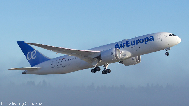 On March 15, 2016, Spanish carrier Air Europa took delivery of the first of 22 Boeing 787s on order either directly from Boeing or via leasing companies