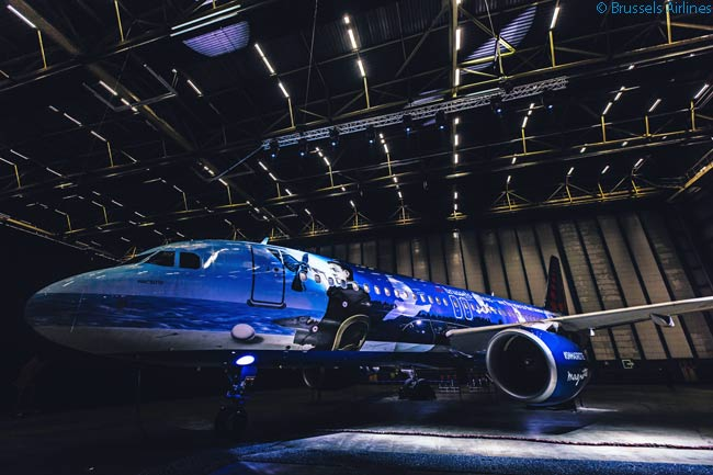 'Magritte' was the second aircraft to be unveiled by Brussels Airlines in a special livery which formed part of a planned series of themed liveries honoring major Belgian cultural icons