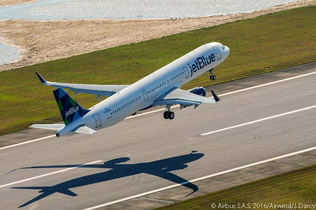 The first Airbus aircraft produced at the Airbus A320-family Final Assembly Line in Alabama, an A321 destined for JetBlue Airways, took off on its maiden flight at 9:36 a.m. local time on March 21, 2016