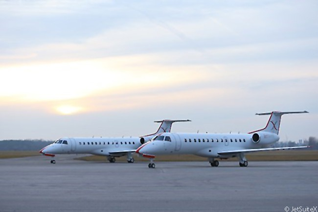 On April 5, 2016, JetSuite, the United States' fourth-largest private-jet operator, announced it was launching a new public-charter service called JetSuiteX. Using 10 used Embraer ERJ-135s, each with a refurbished, 30-seat cabin, JetSuiteX would offer tickets for single seats on scheduled public-charter flights linking U.S. West Coast destinations and between Californian city San Jose and Bozeman in Montana