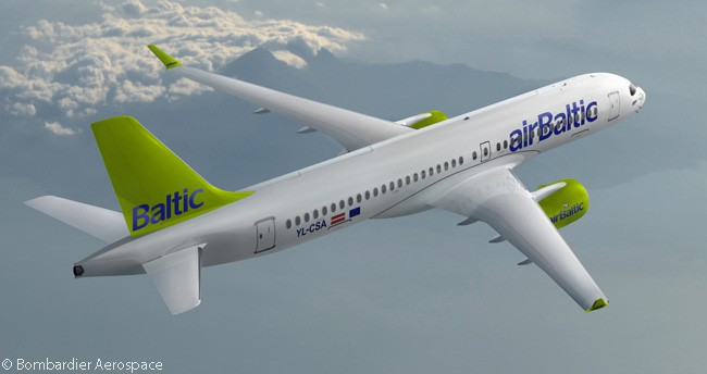 On April 12, 2016, Latvian carrier airBaltic firmed options on seven Bombardier CS300s, taking its total orders for the type to 20 aircraft