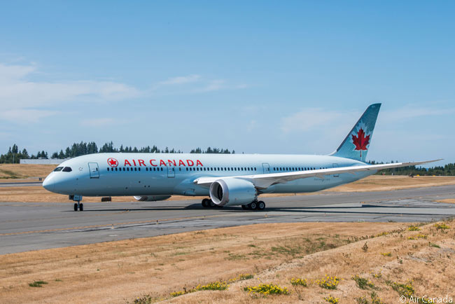 Each of Air Canada's Boeing 787-9s is outfitted with 30 International Business Class lie-flat pod suites, 21 Premium Economy seats and 247 Economy Class seats