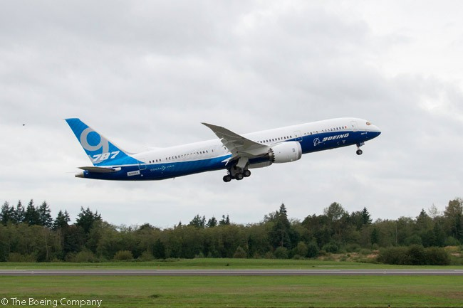 The Boeing 787-9 performed its first test flight (from Paine Field in Everett, Washington) on September 17, 2013, beginning a flight-test program which led to certification of the type in mid-2014 and delivery of the first customer aircraft to Air New Zealand on July 12 of that year