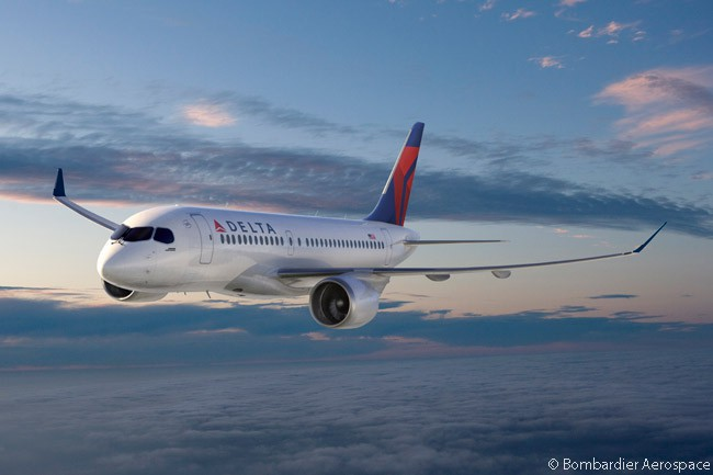 On April 28, 2016, Delta Air Lines placed a firm order for 75 Bombardier CS100 jets and optioned another 50, making it the largest customer to that date for the C Series family. Delta's purchase agreement included rights to convert at a later date some of its delivery slots into orders for the larger CS300 if it wished