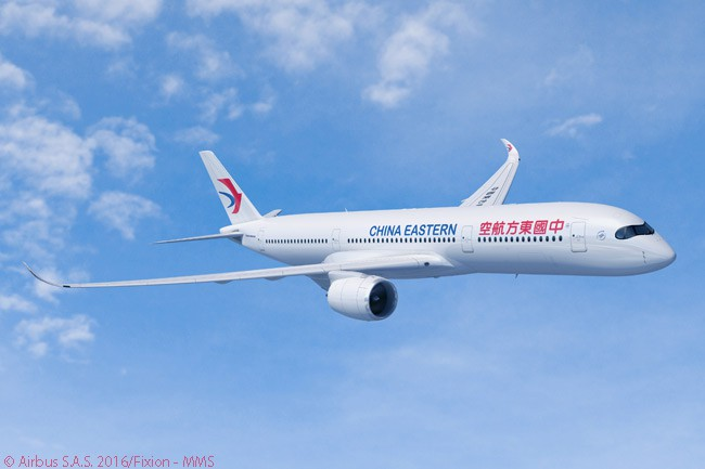 On April 29, 2016, China Eastern Airlines placed a firm order for 20 Airbus A350-900 widebodies. It announced the order just a day after placing a firm order for 15 Boeing 787-9s