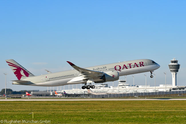 Munich Airport was one of the first long-haul destinations to be served by Qatar Airways' fleet of Airbus A350-900s