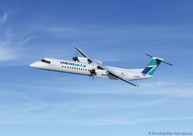On June 1, 2016, WestJet converted options on nine Bombardier Q400 turboprop regional airliners, bringing its total purchases of the type to 45 aircraft. Its regional airline wing WestJet Encore operates all of WestJet's Q400s