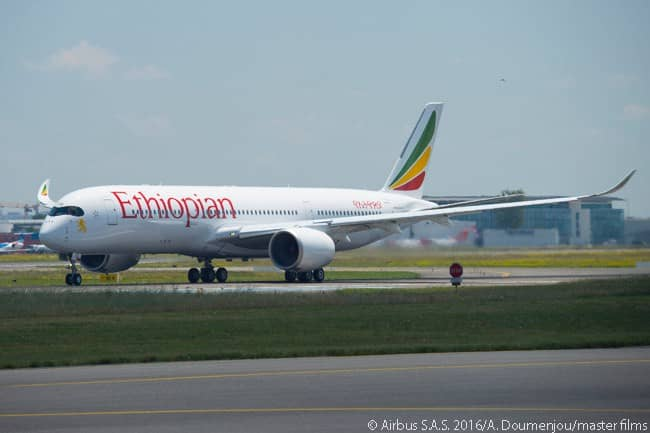 By mid-2016, Ethiopian Airlines had ordered 14 Airbus A350-900s from the manufacturer. The A350-900 is Ethiopian's first Airbus type
