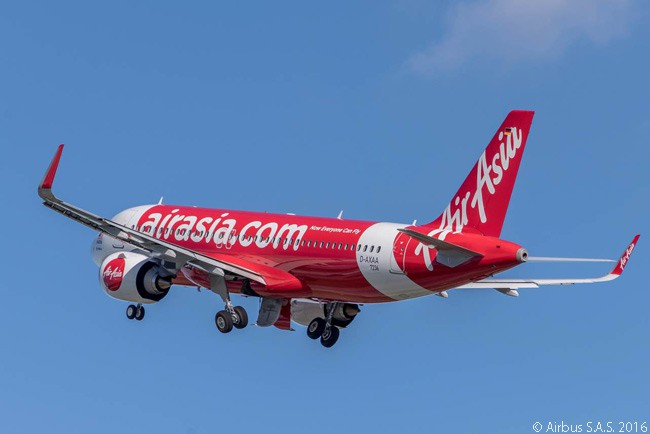 AirAsia took delivery of its first Airbus A320neo on September 7, 2016. The aircraft was the second to be delivered with CFM International LEAP-1A engines