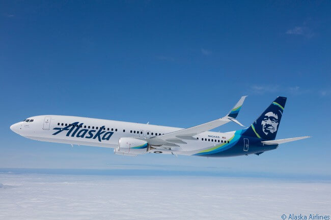 In 2016 Alaska Airlines updated its livery, but retained its distinctive tail logo, which graphically represents the face of a native Alaskan Inuit. The new livery is shown to good effect on Alaska Airlines Boeing 737-900ER N434AS