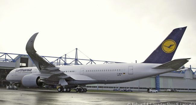 Lufthansa Confirms December Delivery Date for Its First A350-900