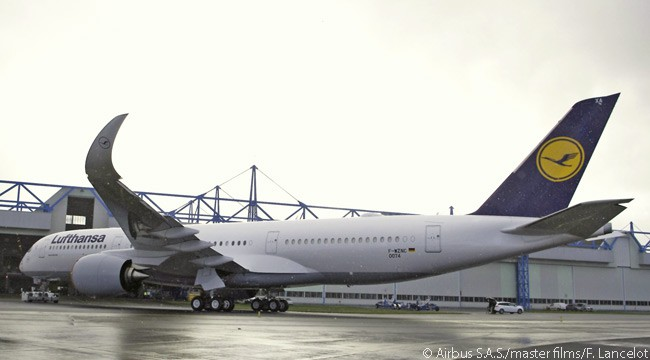 Lufthansa announced on November 18, 2016 that it would receive its first Airbus A350-900 on December 19 and that the aircraft's first long-haul scheduled service would be a flight from Munich to Delhi on February 10, 2017